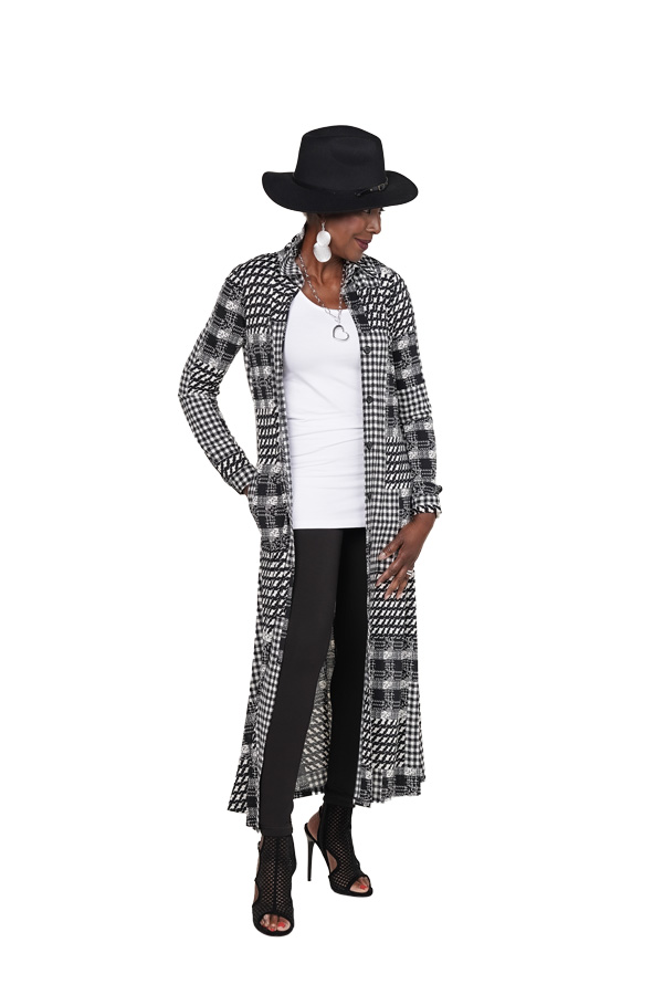 Wardrobe Warrior Favorite duster with tank and Renee Reversible legging