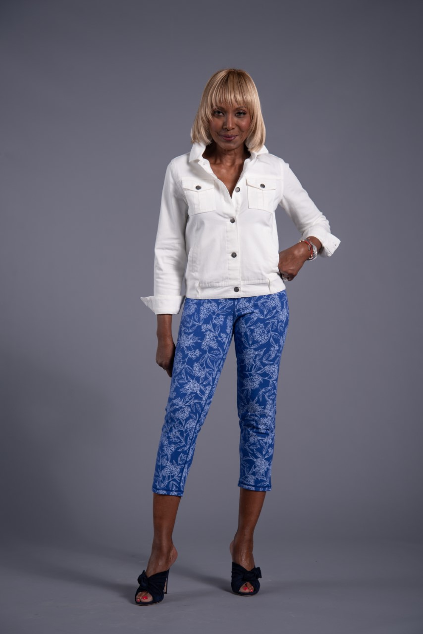 Women with Control Renee's Reversibles Tummy Control Crop Pant
