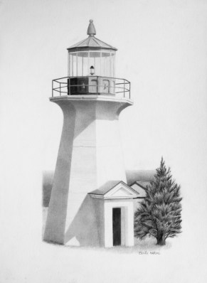 "Lighthouse, 2010 - 9""x12"""