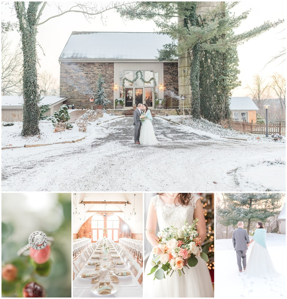 Historic Stonebrook Farm, Historic Stonebrook Farm Wedding, Historic Stonebrook Farm Winter Wedding, Winter Weddings in December, Mint Blue Bridesmaid Dresses, December Wedding in Bucks County, PA, Perkasie, PA Wedding, Perkasie Weddings, Bucks County Weddings, Renee Nicolo Photography, Winter Berry, Winter Wedding Bouquets, Bride and Groom Golden Hour Portraits, Weddings in the Snow, Farm Weddings, Farm Winter Weddings, Steve Madden Wedding Shoes, David's Bridal, David's Bridal Wedding Dress, Winter Wedding Dresses.