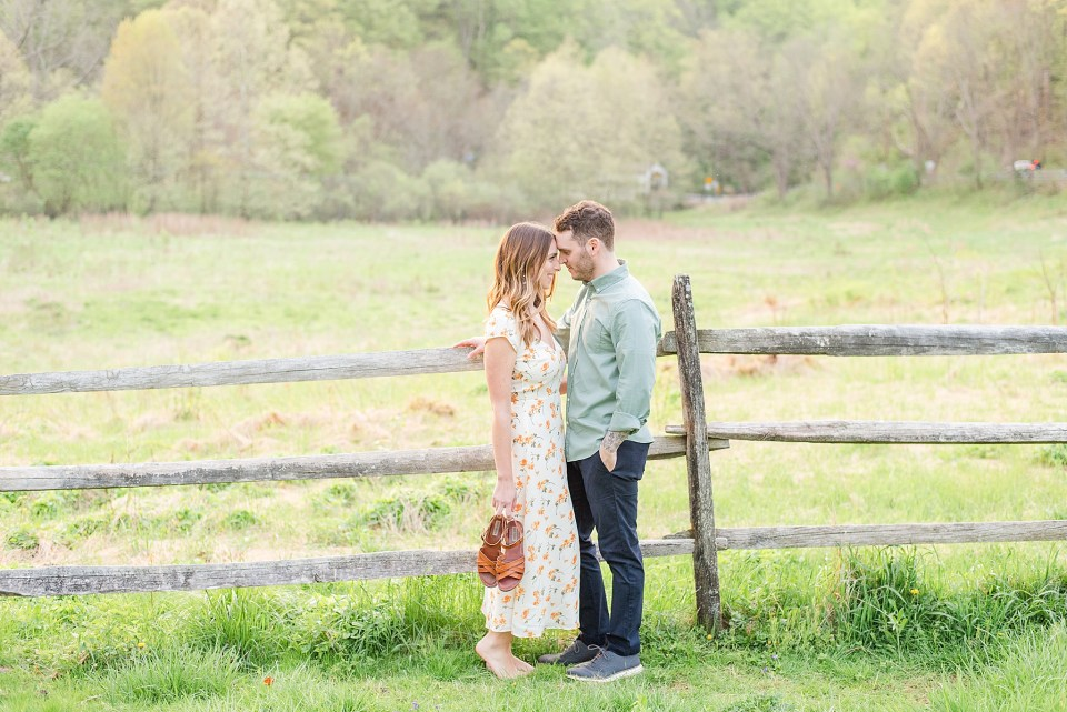 Romantic engagement session with wedding photographer Renee Nicolo Photography