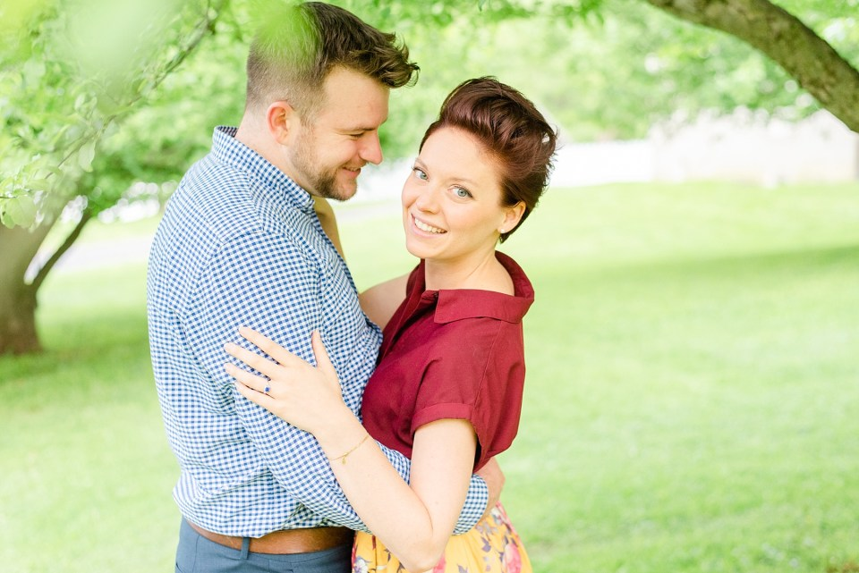 happy couple celebrates engagement session with Renee Nicolo Photography