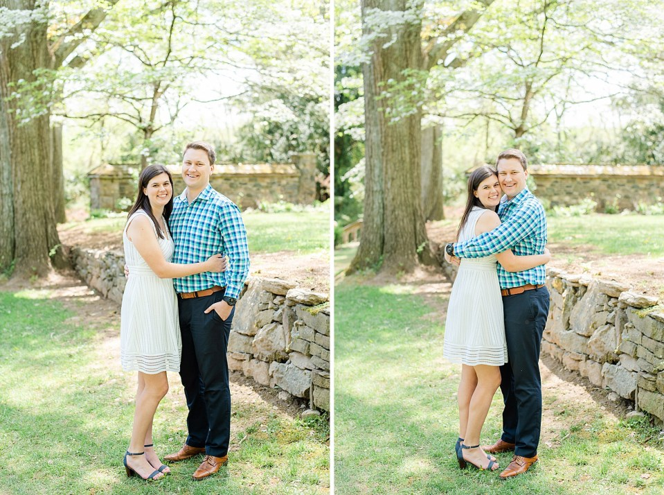 Spring engagement session at Parque at Ridley Creek with Renee Nicolo Photography