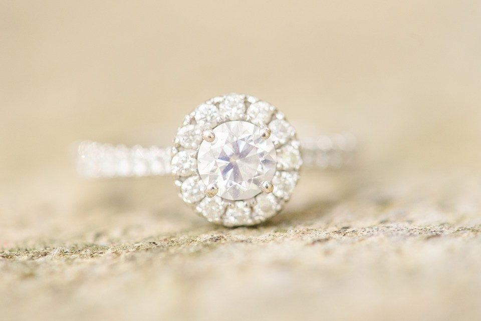 diamond engagement ring photographed by Renee Nicolo Photography