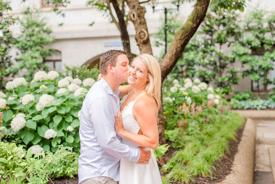 Center City engagement photos by PA wedding photographer Renee Nicolo Photography
