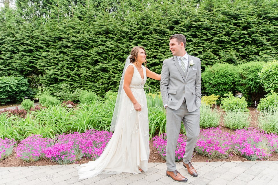 Dallas PA wedding day first look by wedding photographer Renee Nicolo Photography