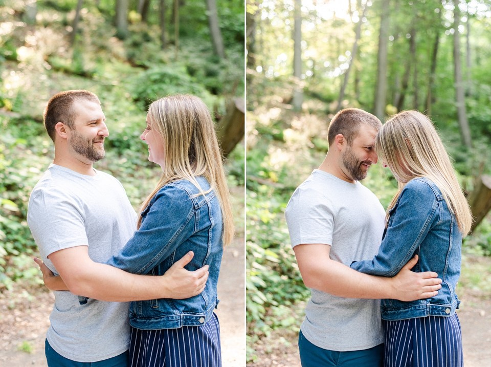 PA engagement session at Wissahickon Creek with Renee Nicolo Photography