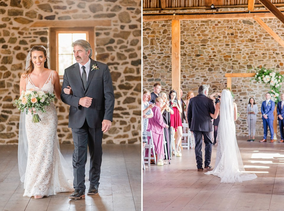 bride enters wedding ceremony by Renee Nicolo Photograpy