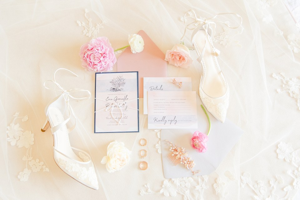 summer wedding invitation photographed by Renee Nicolo Photography