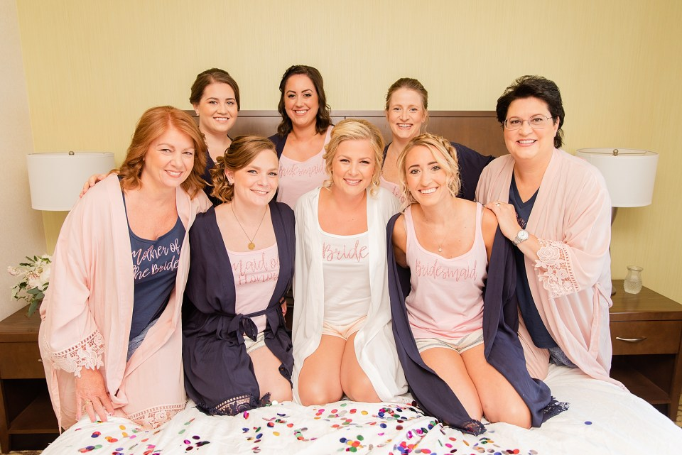 bride and bridesmaids photographed by Pennsylvania wedding photographer Renee Nicolo Photography