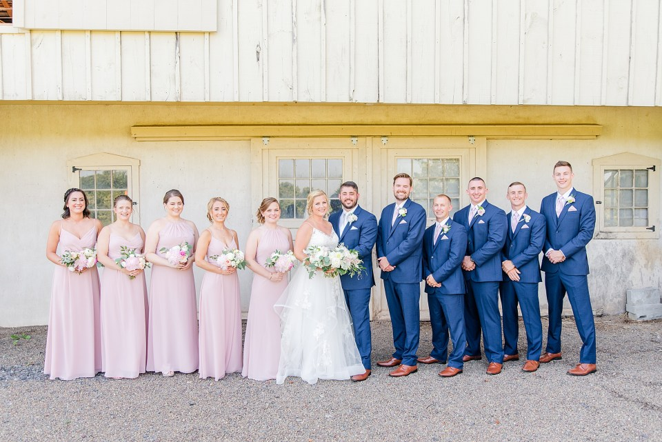 bridal party for French Creek Golf Club wedding day photographed by Renee Nicolo Photography