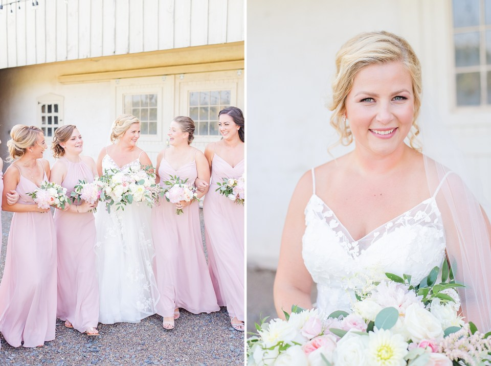 bride and bridesmaid photos at French Creek Golf Club by Renee Nicolo Photography