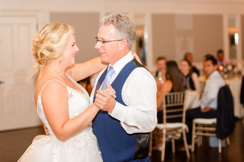 daughter and father dance photographed by PA wedding photographer Renee Nicolo Photography