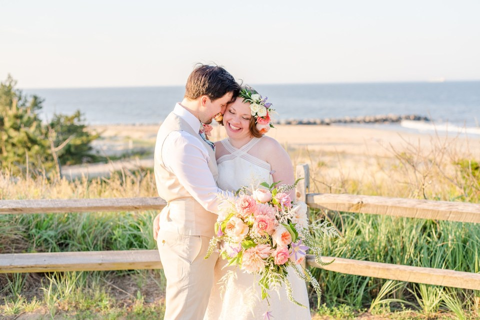 joyful wedding day at Rehoboth Beach with DE and destination wedding photographer Renee Nicolo Photography