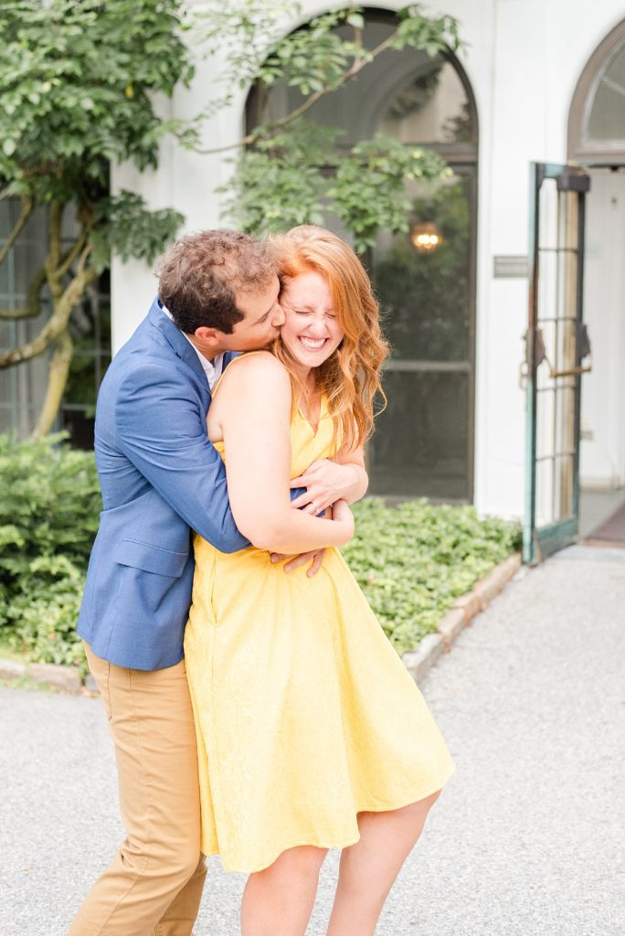 engagement session by Renee Nicolo Photography in Longwood Gardens conservatory
