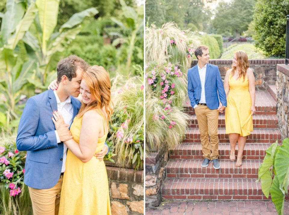 Renee Nicolo Photography photographs engagement session in Longwood Gardens
