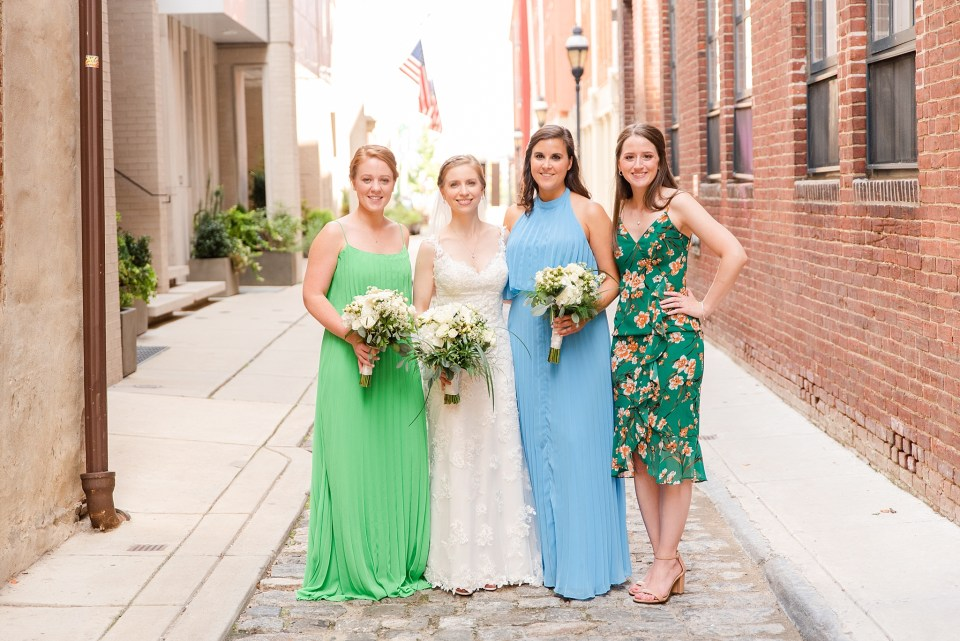 bride and bridesmaids in Philly PA with Renee Nicolo Photography