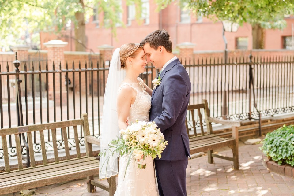 sweet wedding portraits in Philly by Renee Nicolo Photography