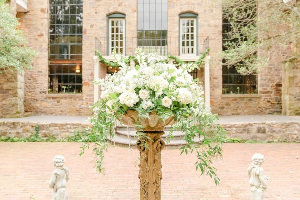 gorgeous ivory florals for HollyHedge Estate wedding by Renee Nicolo Photography