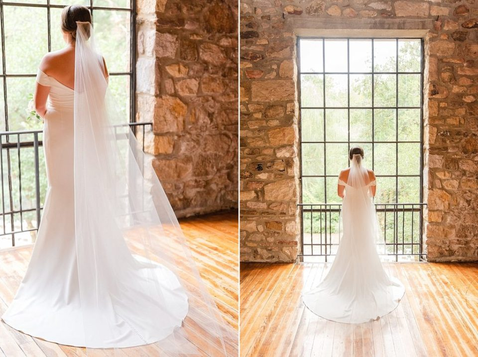 bridal portraits in bridal suite with Renee Nicolo Photography