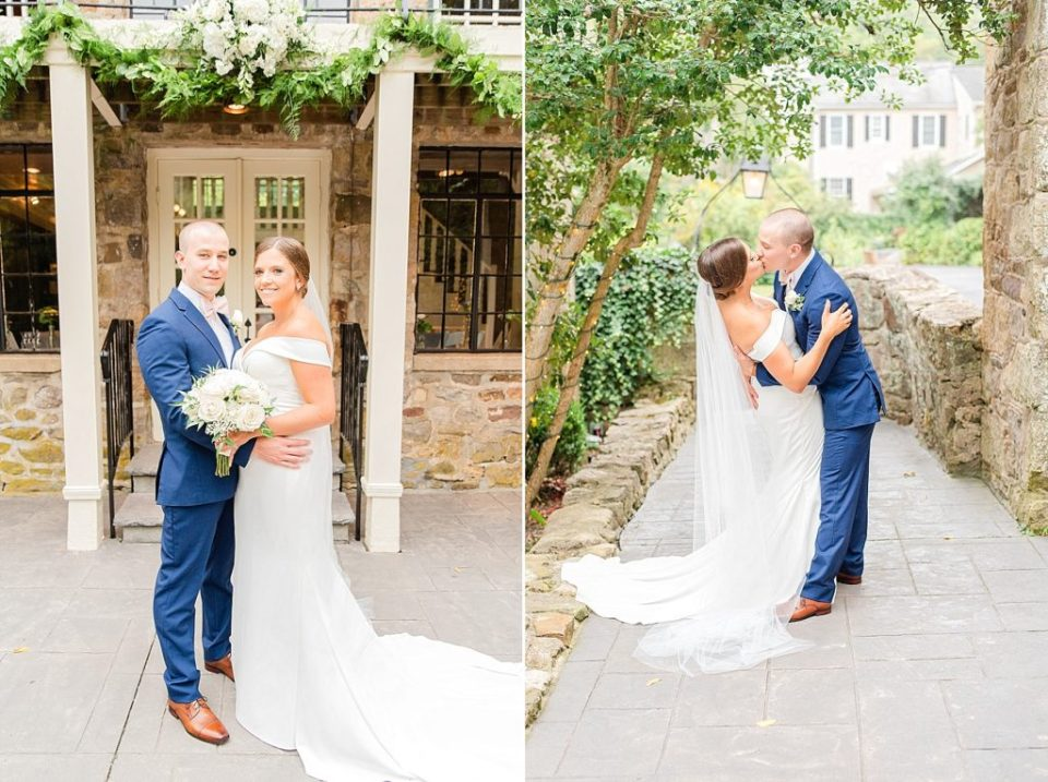 romantic wedding portraits at HollyHedge Estate with Renee Nicolo Photography