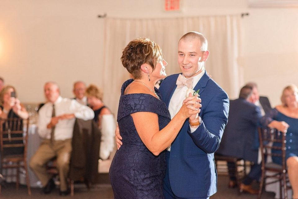 Renee Nicolo Photography photographs mother-son dance at wedding reception