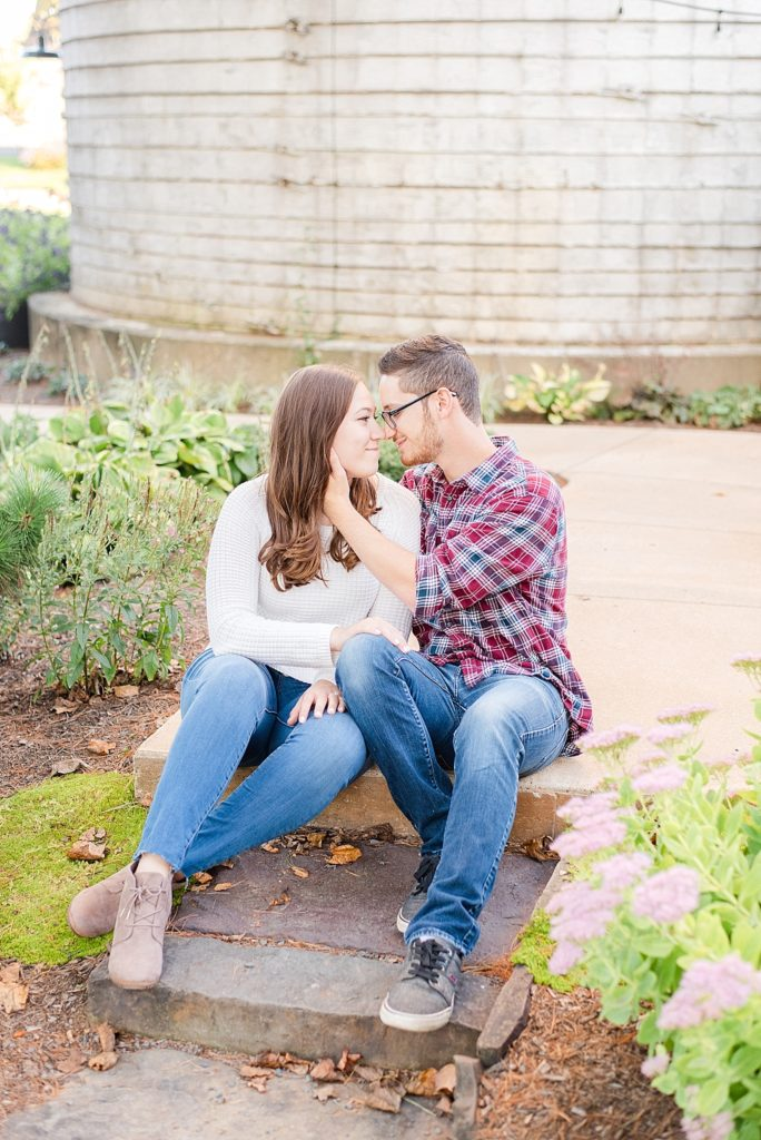 Renee Nicolo Photography photographs engagement portraits at Historic Stonebrook Farm