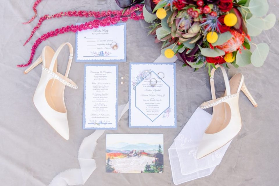 fall wedding stationery photographed by Renee Nicolo Photography