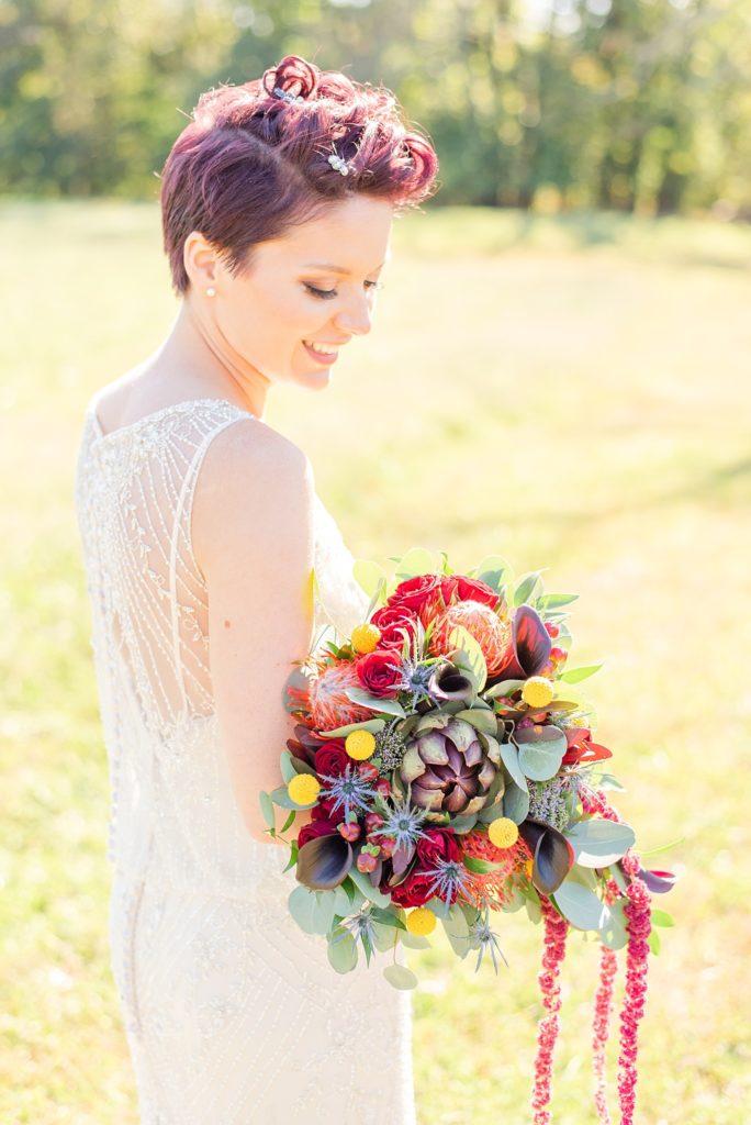bridal portrait at Historic Stonebrook Farm with Renee Nicolo Photography