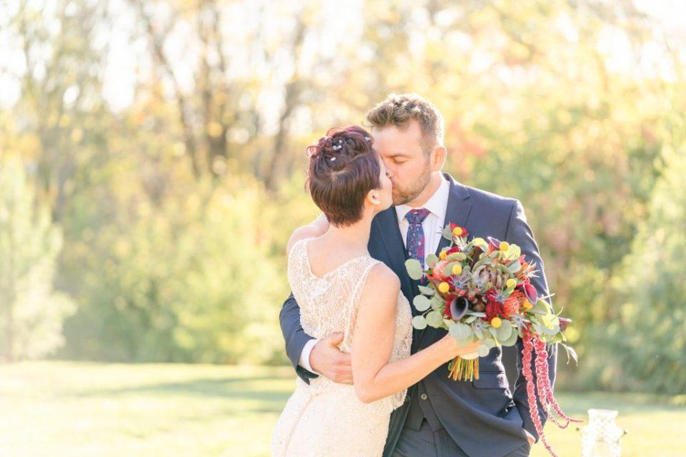 Renee Nicolo Photography photographs fall wedding at Historic Stonebrook Farm