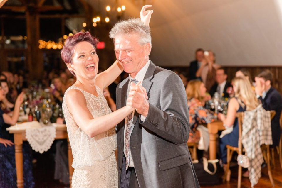 father daughter dance at PA reception photographed by Renee Nicolo Photography