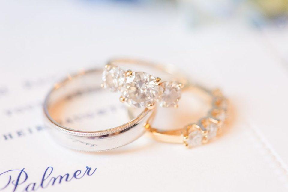 wedding rings photographed by PA wedding photographer Renee Nicolo Photography