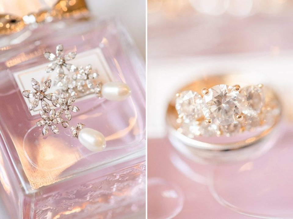 wedding jewelry detail photographed by Renee Nicolo Photography