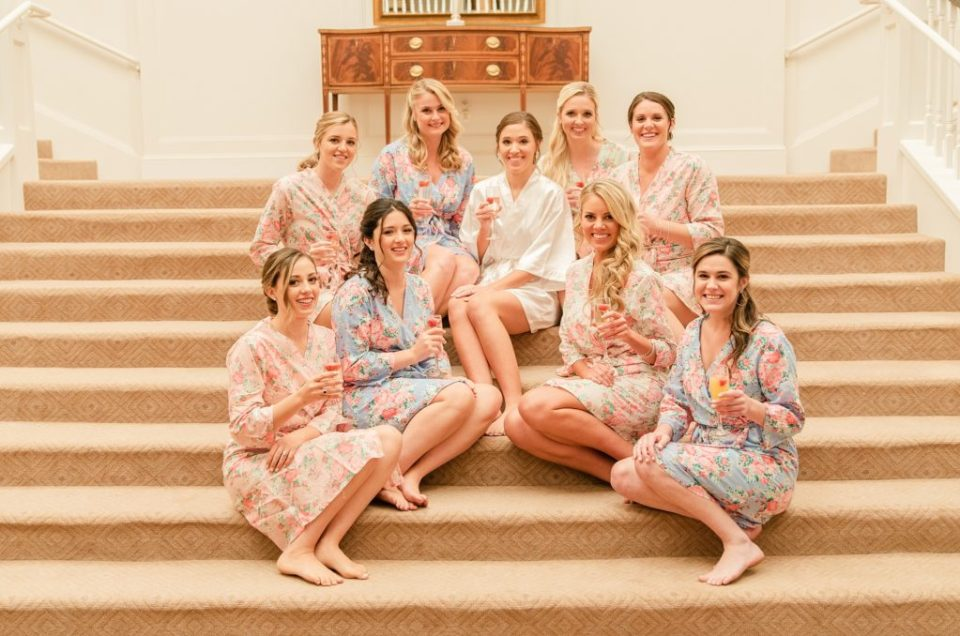 bridesmaids pose before wedding day with Renee Nicolo Photography