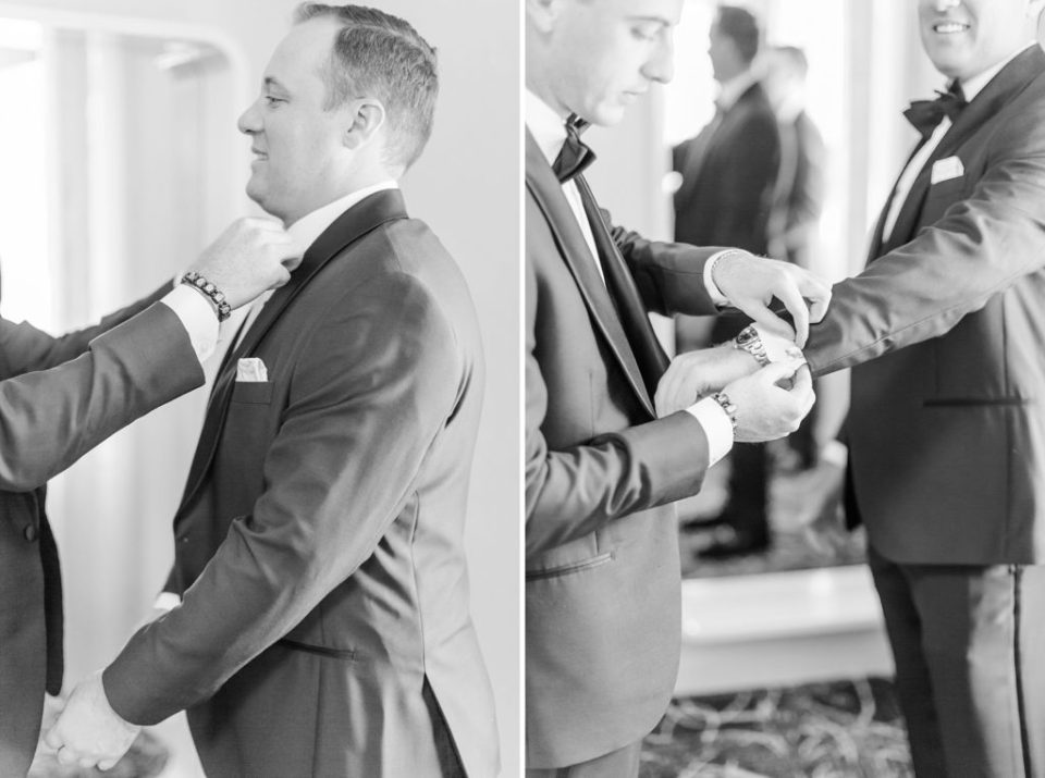 groom prepares for PA wedding day with Renee Nicolo Photography