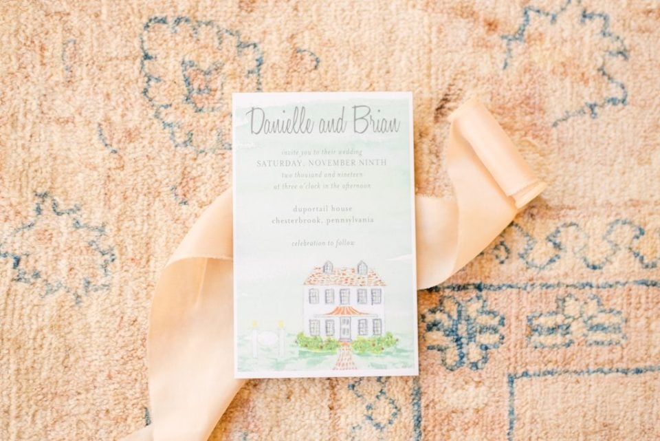 wedding stationery for fall wedding photographed by Renee Nicolo Photography