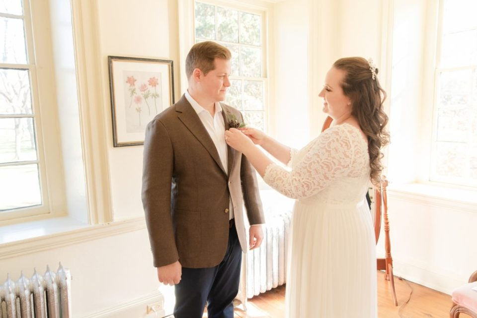 bride and groom prepare for PA wedding