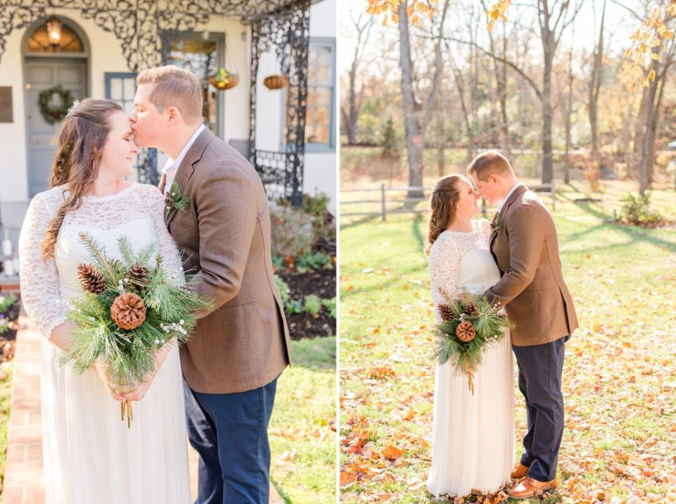 Renee Nicolo Photography photographs couple on fall wedding day in PA