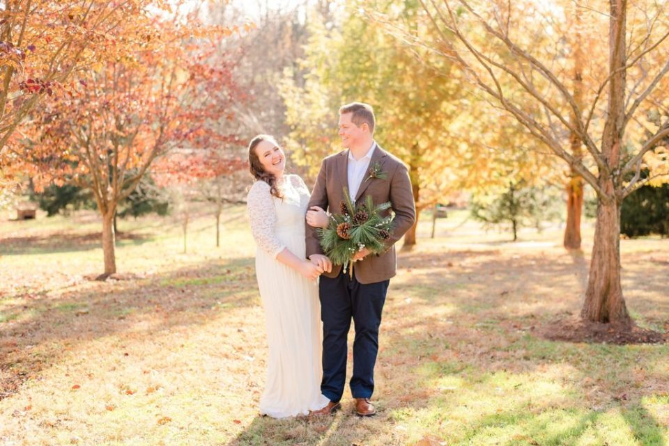 Renee Nicolo Photography photographs Duportail House wedding in the fall