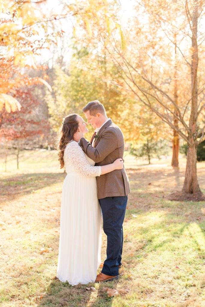 intimate fall wedding day at Duportail House with Renee Nicolo Photography