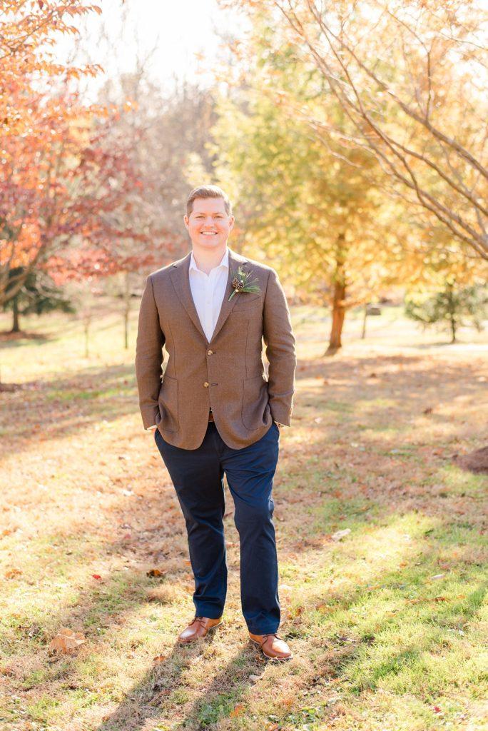 Renee Nicolo Photography photographs groom's portraits