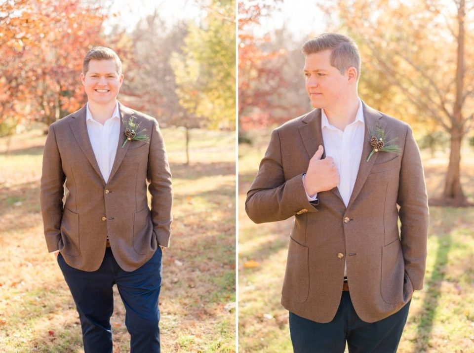 PA wedding day groom portraits by Renee Nicolo Photography