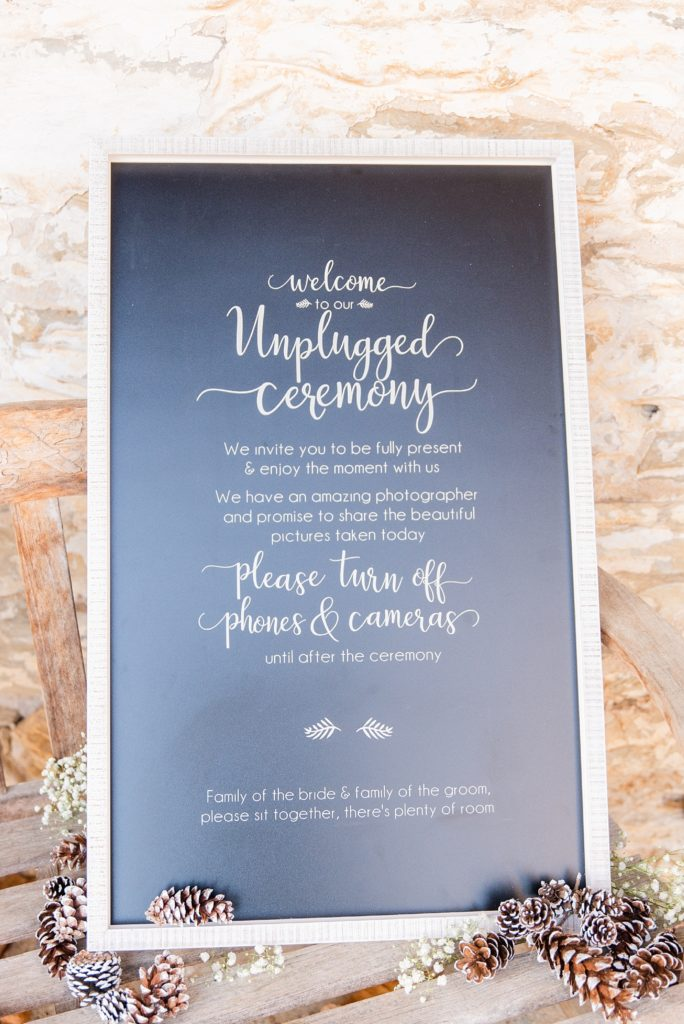 unplugged ceremony sign by Renee Nicolo Photography