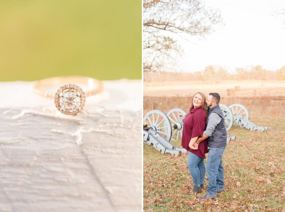 Renee Nicolo Photography photographs couple in battlefield at Valley Forge