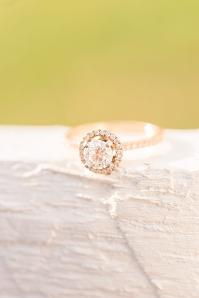 engagement ring photographed at Valley Forge National Park by Renee Nicolo Photography