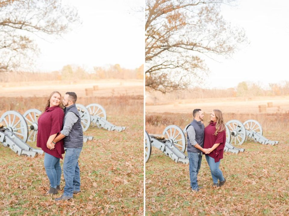 engagement session in battlefield at Valley Forge National park with Renee Nicolo Photography