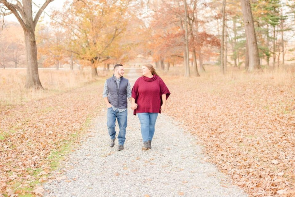 fall Valley Forge National Park engagement session with Renee Nicolo Photography