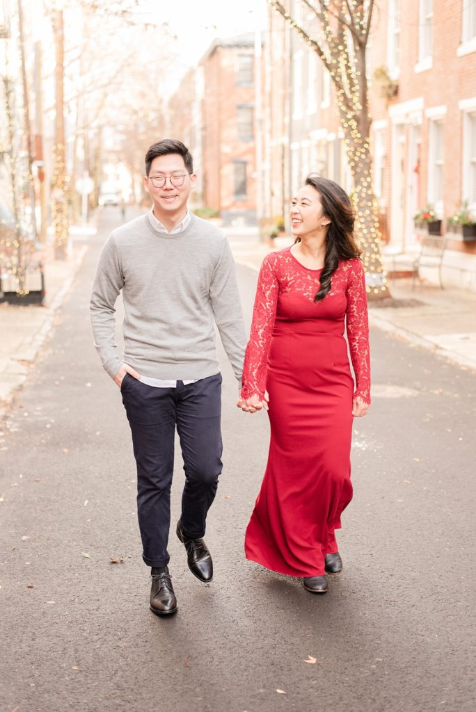 snowy engagement session in Philly PA with Renee Nicolo Photography