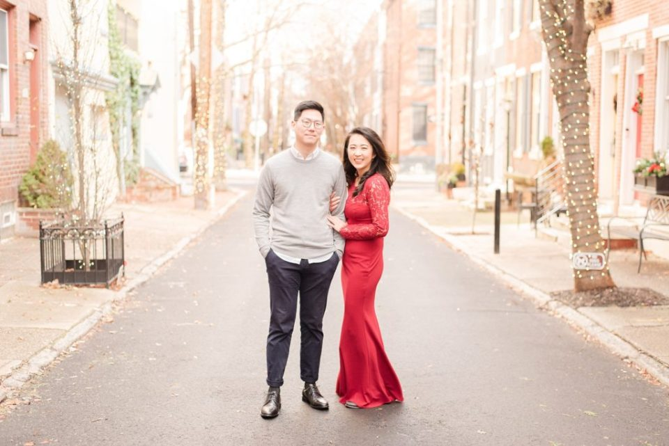 Renee Nicolo Photography captures bride in red dress during engagement photos
