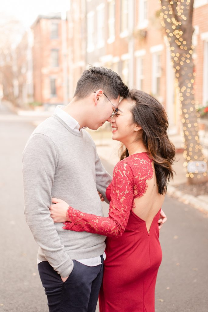 Christmas engagement session inspiration by Renee Nicolo Photography